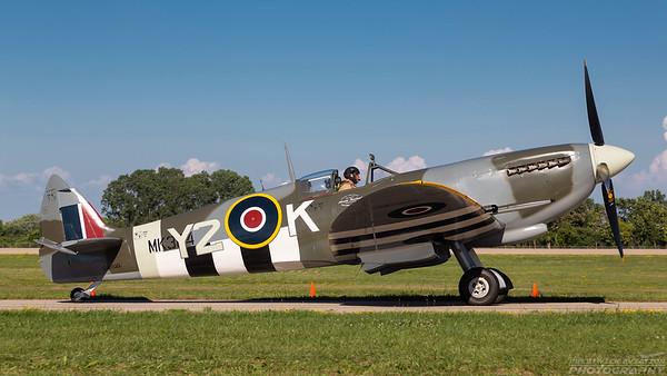 TE294 (C-GYQQ). Supermarine Spitfire TR Mk. IX. RAF. Oshkosh. 240718.