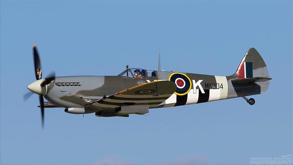 MK304(C-GYQQ). Supermarine Spitfire TR Mk. IX. RAF. Oshkosh. 230718.