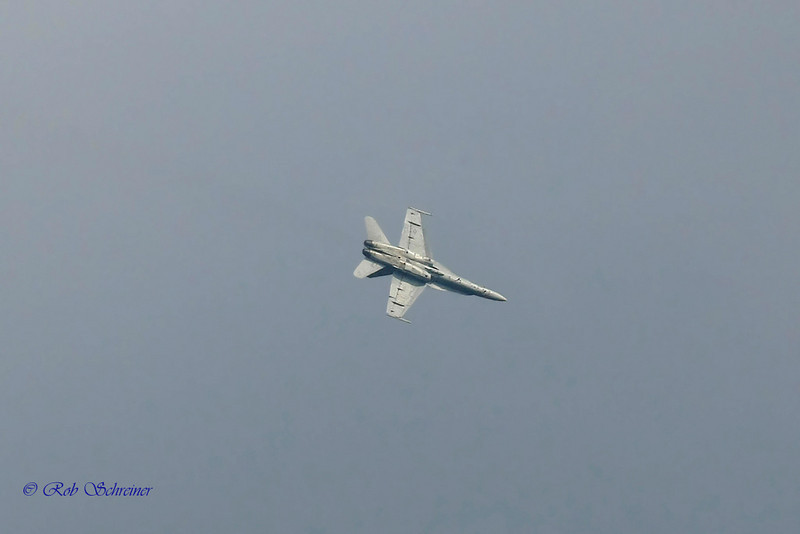 The F18, never came close the the fire house durring the exhibition.