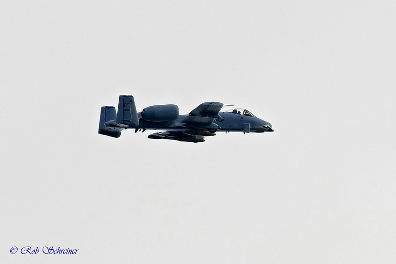 My favorite of the day, as this A10 leaves after the show.  The hose from the pilot's mask is visible.  400mm f2.8 lens.