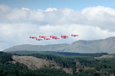 Red Arrows at the Windermere Air Show 2007
