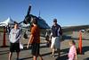Shea, Brendan, Sean & Maya check out, the original Mustang, the P-51 - one of the Tora, Tora, Tora warbirds.