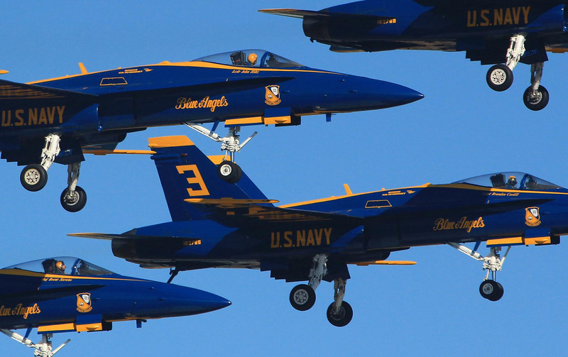 """Flying tight formations """"dirty"""" (gear down) is harder that going faster with gear up."""