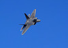 Watching the F-22 raptor was like a ballet. The computer flight systems seemed to make it fly smoother than the other jets we saw. The flight computer corrects pilot error oscillations. This pilot also selected a nice sequence of shondells, arcing loops and steep turns that were graceful and impressive. Slow flight with the nose nearly straight up was unworldly.