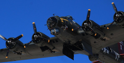 It is hard to imagine the fear that hundreds of these B-17's rumbling high over Europe would cause to those in the target zone below.