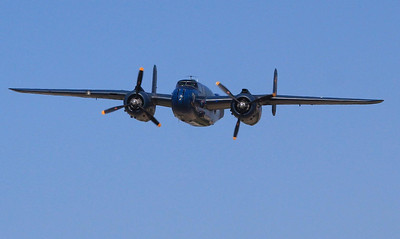 Nearly 10,000 B-25s were built and about 30 are still flying today. One of those 30 was bought at auction in excellent flying condition back in 1969 for only $3,500.00. The B-25 was the only bomber used by all combat branches of the service, the most versatile airframe in our inventory, and had the most varied combinations of bombs, rockets, guns, cannons, torpedos and fuel tanks in the war.