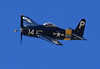 F8F Bearcat. It arrived too late in WWII to make an impact, but was the fastest of all propeller driven fighters.