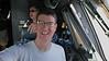 Selfie photo in the C-17 cockpit