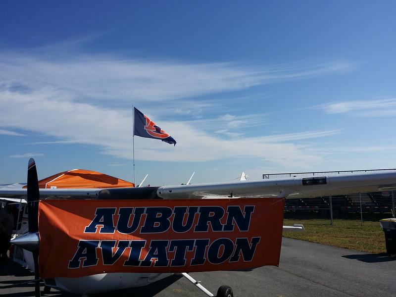 Yes the Auburn flight school folks were here too! War Eagle!