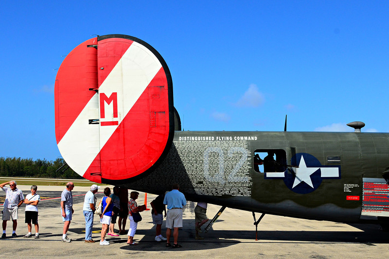 Tail end of B-24 Liberator