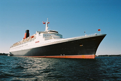 QE2 at Newport, Rhode Island