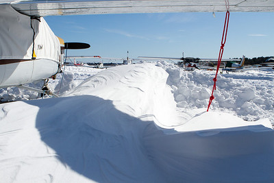 Deep, hard packed snow drift. - Copyright (c) 2013 Daniel Noe