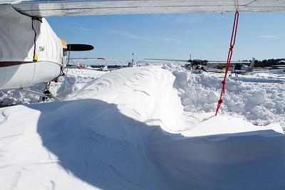 Deep, hard packed snow drift. - Copyright (c) 2013 Daniel Noe