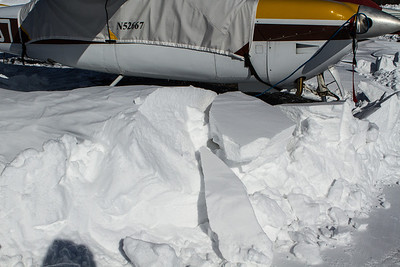 Huge heavy chunks of hard packed snow. - Copyright (c) 2013 Daniel Noe