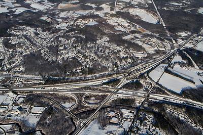 Route 2/I-190 interchange. - Copyright (c) 2013 Daniel Noe