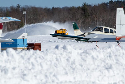 Snowblower clearing snow from the runway. - Copyright (c) 2013 Daniel Noe