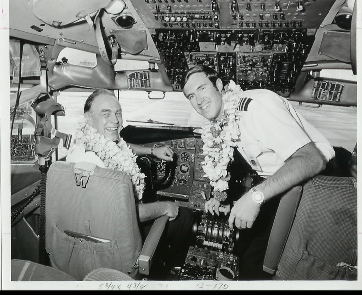 My Dad's retirement flight, Aug 1973, with my brother.  B-707