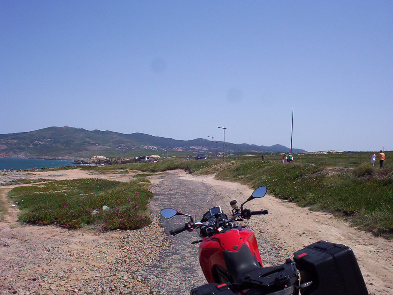 On a layover in Lisbon.  Borrowed a bikie from Motoxplorers for the day.