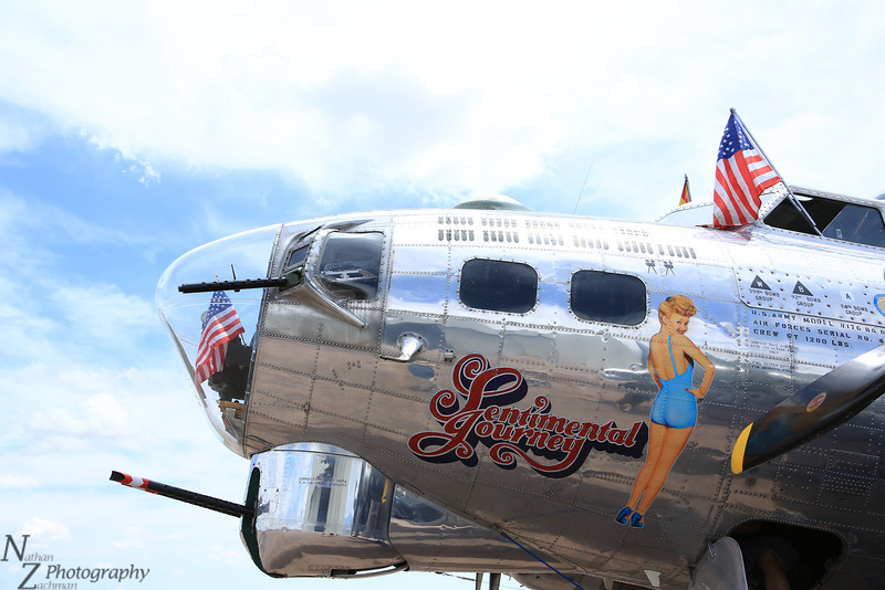 B-17 Sentimental Journey laying over at the Colorado Springs Airport.