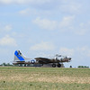 B-17 Sentimental Journey landing at the Colorado Springs Airport