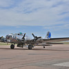 B-17 Sentimental Journey getting ready for take off, at the Colorado Springs Airport