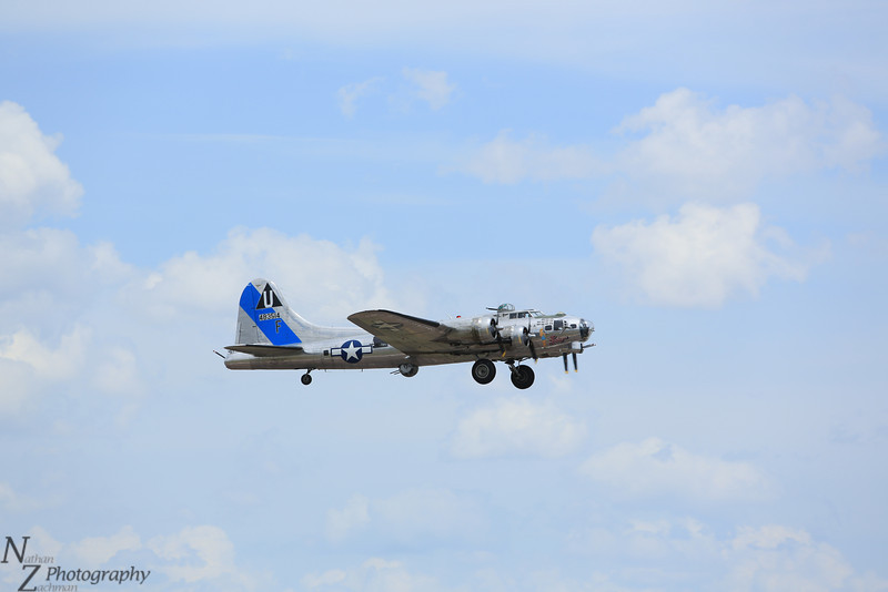B-17 Sentimental Journey Airborne in Colorado Springs
