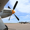 B-17 Sentimental Journey, P-51 Mustang Crusader at the Colorado Springs Airport