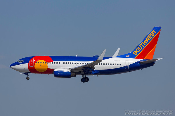 N230WN. Boeing 737-7H4. Southwest. Los Angeles. 230917.