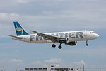 N210FR. Airbus A320-214. Frontier Airlines. Miami. 220417.