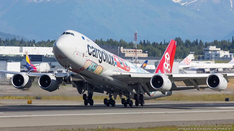 LX-VCM. Boeing 747-8R7F/SCD. Cargolux. Anchorage. 190617.