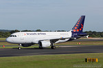 OO-SSF. Airbus A319-111. Brussels Airlines. Manchester. 170717.