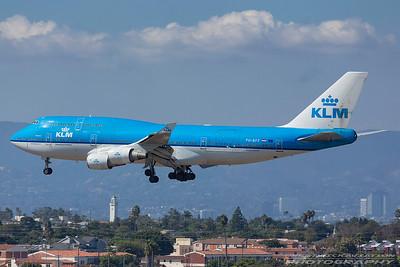 PH-BFF. Boeing 747-406M. KLM. Los Angeles. 130917.