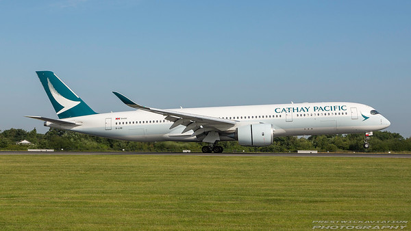 B-LRB. Airbus A350-941. Cathay Pacific. Manchester. 180717.