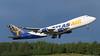 N475MC. Boeing 747-47UF/SCD. Atlas Air. Anchorage. 080617.