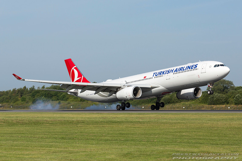 TC-LOB. Airbus A330-343. Turkish Airlines. Manchester. 180717.