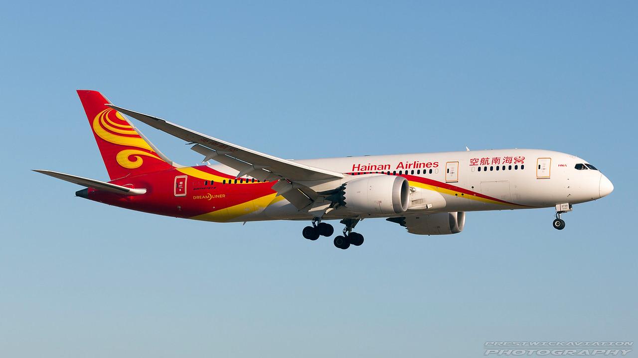 B-2733. Boeing 787-8 Dreamliner. Hainan Airlines. Los Angeles. 150617.