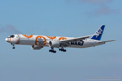 JA789A. Boeing 777-381/ER. All Nippon Airways. Los Angeles. 130917.