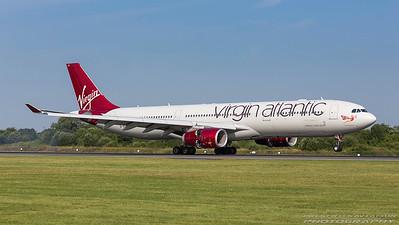 G-VUFO. Airbus A330-343. Virgin Atlantic. Manchester. 180717.