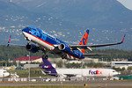 N821SY. Boeing 737-8FH. Sun Country Airlines. Anchorage. 190617.