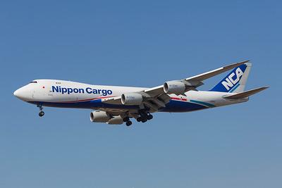 JA13KZ. Boeing 747-8KZF/SCD. All Nippon Cargo. Los Angeles. 180917.