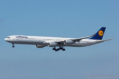 D-AIHB. Airbus A340-642. Lufthansa. Los Angeles. 130917.