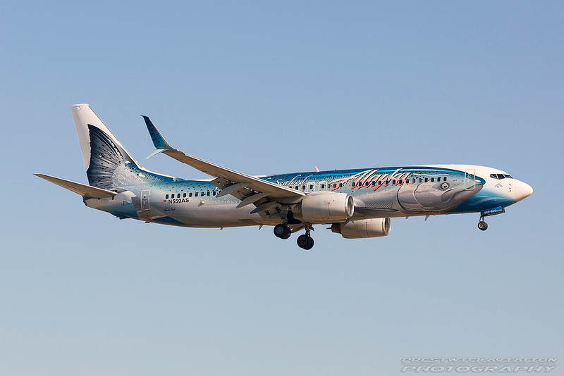N559AS. Boeing 737-890. Alaska Airlines. Los Angeles. 150617.