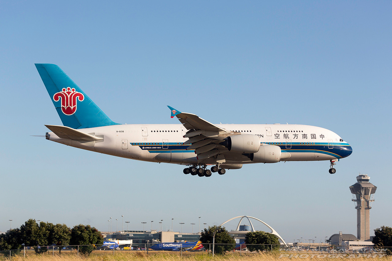 B-6138. Airbus A380-841. China Southern Airlines. Los Angeles. 150617.
