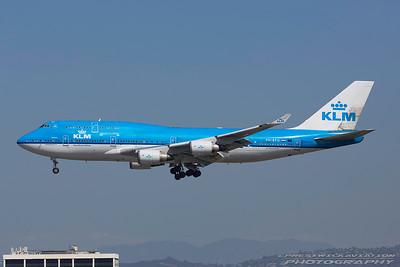 PH-BFU. Boeing 747-406M. KLM. Los Angeles. 230917.