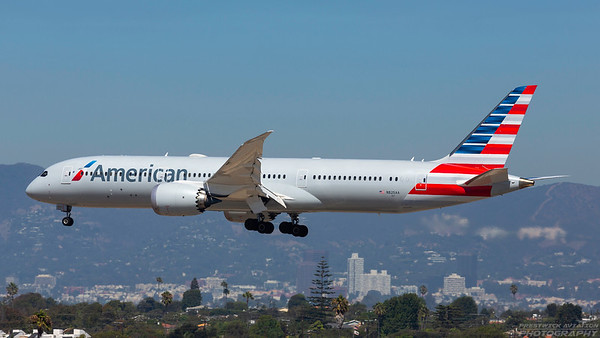 N825AA. Boeing 787-9 Dreamliner. American Airlines. Los Angeles. 180918.