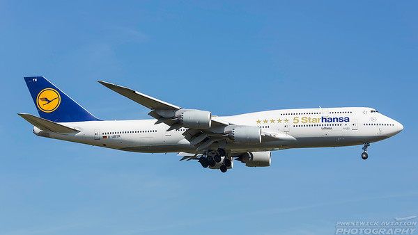 D-ABYM. Boeing 747-830. Lufthansa. Frankfurt. 210518.
