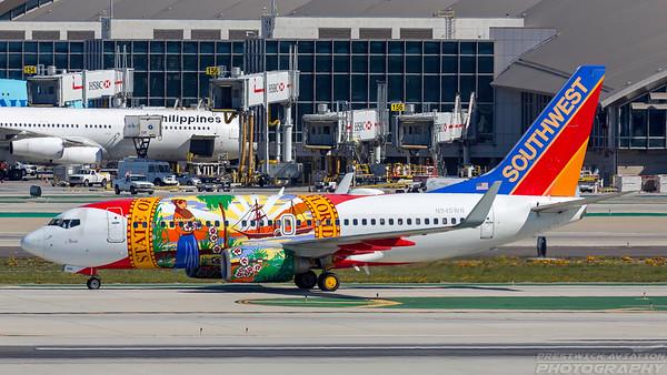 N945WN. Boeing 737-7H4. Southwest. Los Angeles. 260318.