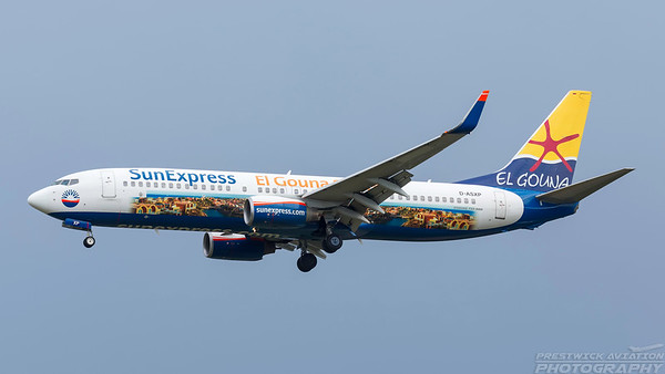 D-ASXP. Boeing 737-8CX. SunExpress. Frankfurt. 200518.