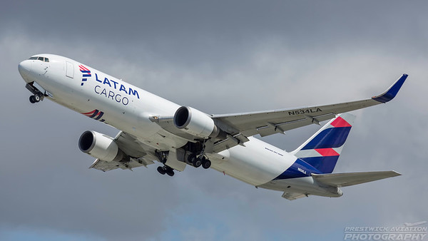 N534LA. Boeing 767-316F(ER). LATAM Cargo. Los Angeles. 240318.