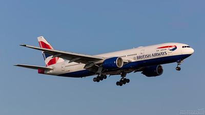 G-YMMP. Boeing 777-236/ER. British Airways. Heathrow. 101018.
